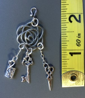 Sterling Silver Rose Chatelaine