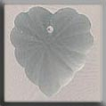 12070 Frosted Starburst Heart - Matte Crystal (SO)