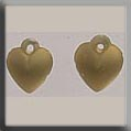 12075 Very Sm. Domed Heart - Matte Gold (SO)
