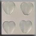 12087 Medium Channeled Heart - Matte Crystal (SO)