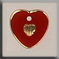12093 Small Engraved Heart - Red/Gold (SO)