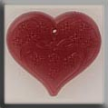 12115 Large Floral Embossed Heart - Rose (SO)