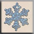 12161 Small Glass Snowflake (SO)