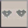12234 Very Petite Flat Heart - Matte Crystal (SO)