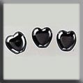 12247 Small Channeled Heart Hematite (SO)