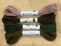 P4 - Set of 5 SDA skeins for HATS Queen May sampler - Main Section ($22.50)